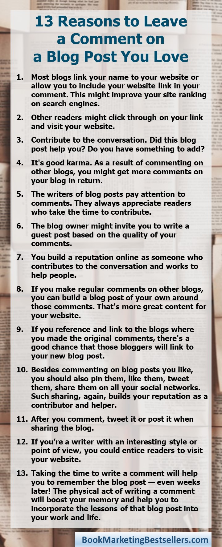 13 Reasons to Leave a Comment on a Blog Post You Love: Get More Traffic, Get More Google Love