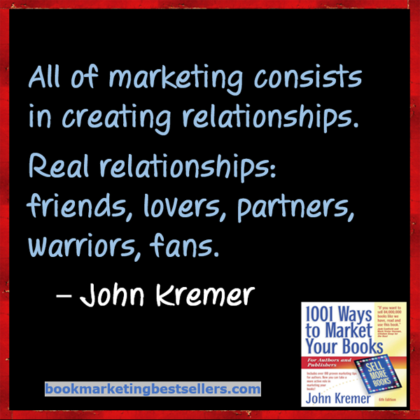 Book Marketing Tip: Creating Relationships
