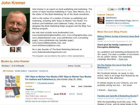 John Kremer on Amazon.com
