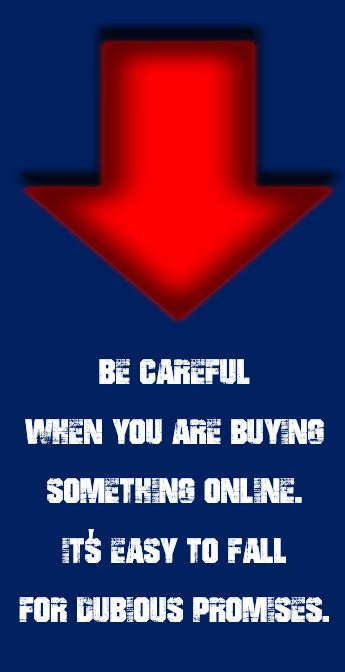 Be Careful When You Are Buying Something Online