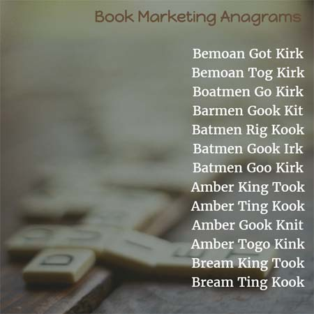 Book Marketing Anagrams