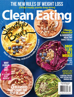 Clean Eating Magazine is a 9-times-a-year magazine about clean foods, health, weight loss, and clean eating.