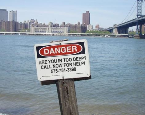 Danger Sign for book marketing