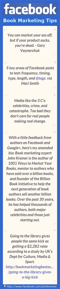 Book Marketing Posts on Facebook.com