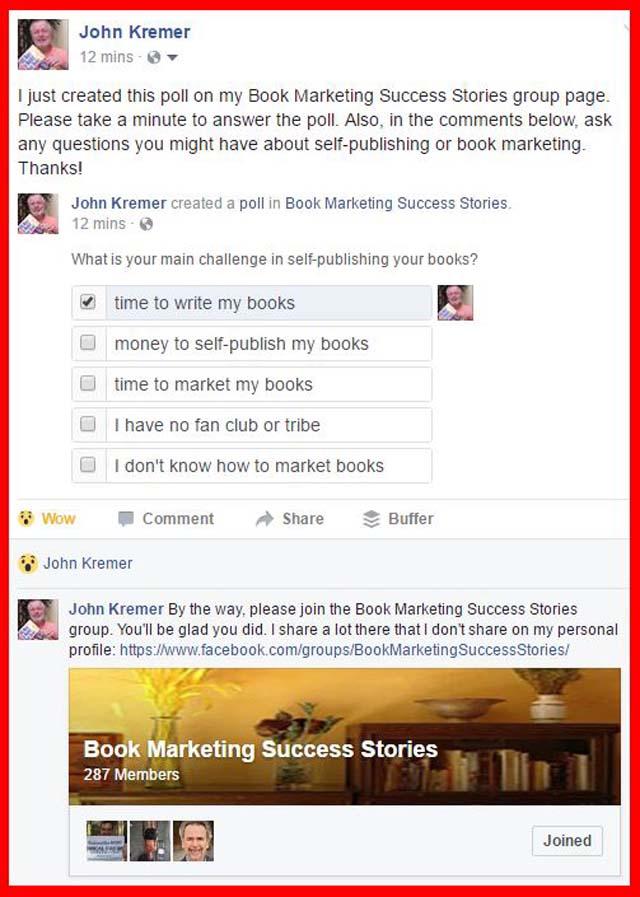 Self-Publishing Poll on Facebook