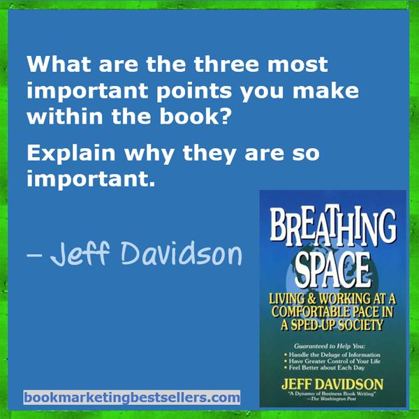 Jeff Davidson Questions
