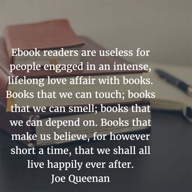 Joe Queenan on Real Books