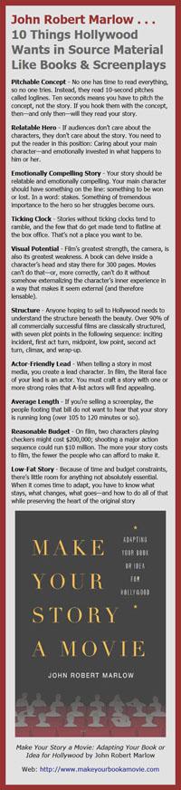John Robert Marlow on What Hollywood Wants