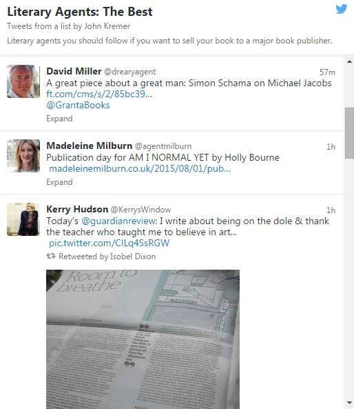 Literary Agents on Twitter