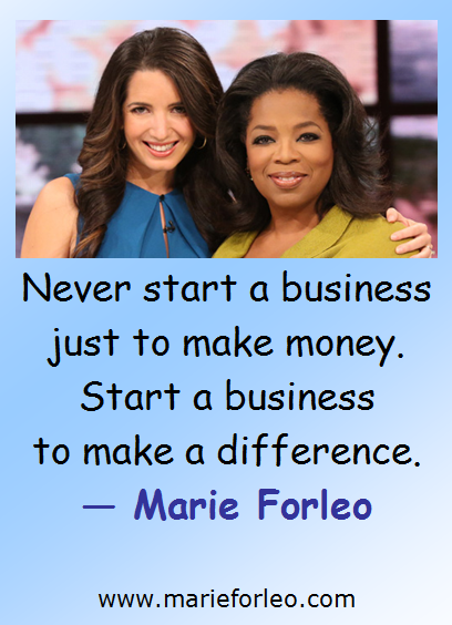 Marie Forleo on Starting a Business