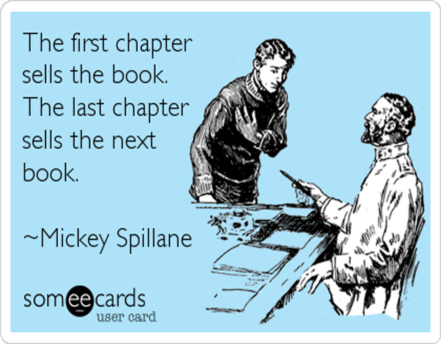 Mickey Spillane on selling books