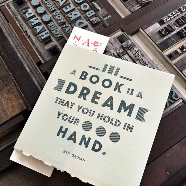 A book is a dream that you hold in your hand. — Neil Gaiman #books #authors