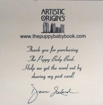The Puppy Baby Book Post-It Note