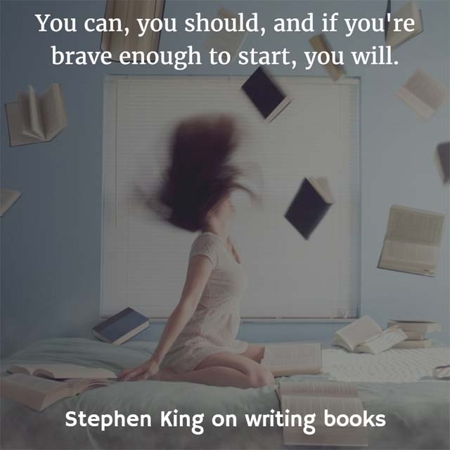on writing stephen king Part autobiography and part how-to, stephen king's 'on writing' is a great read for those interested in becoming a professional writer like so many interesting.
