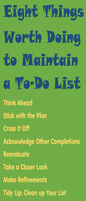 Jeffrey Davidson on To-Do Lists
