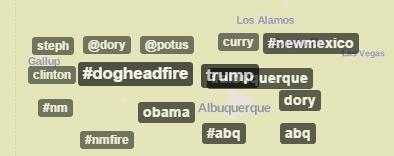 Twitter Albuquerque TrendMap