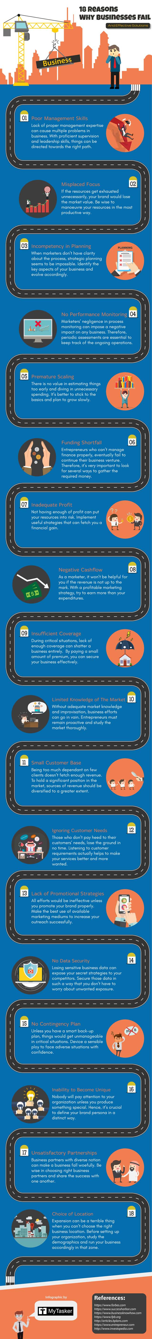 Business Infographic: Why Businesses Fail