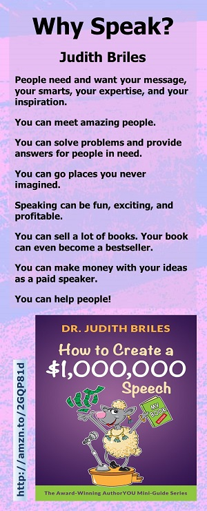 Why Speak by Judith Briles
