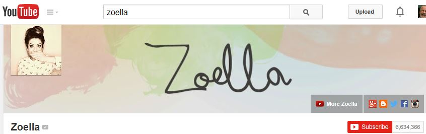 Zoella YouTube Channel