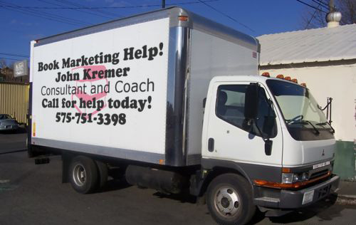 delivery truck for book marketing