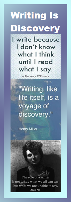 writing bookmark - writing is discovery