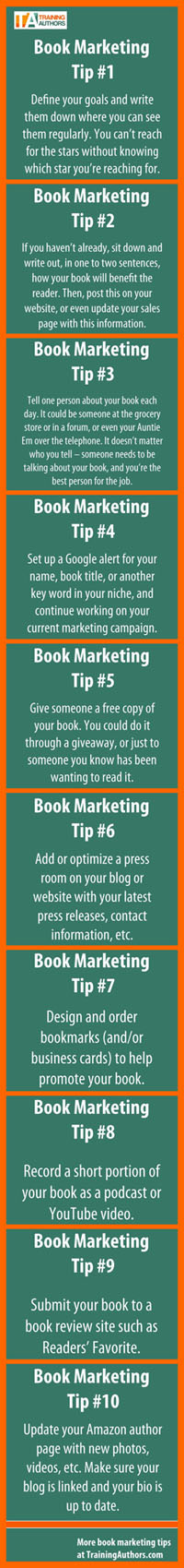 10 Book Marketing Tips plus comments from John Kremer