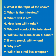 10 Questions to Ask Before a Media Interivew