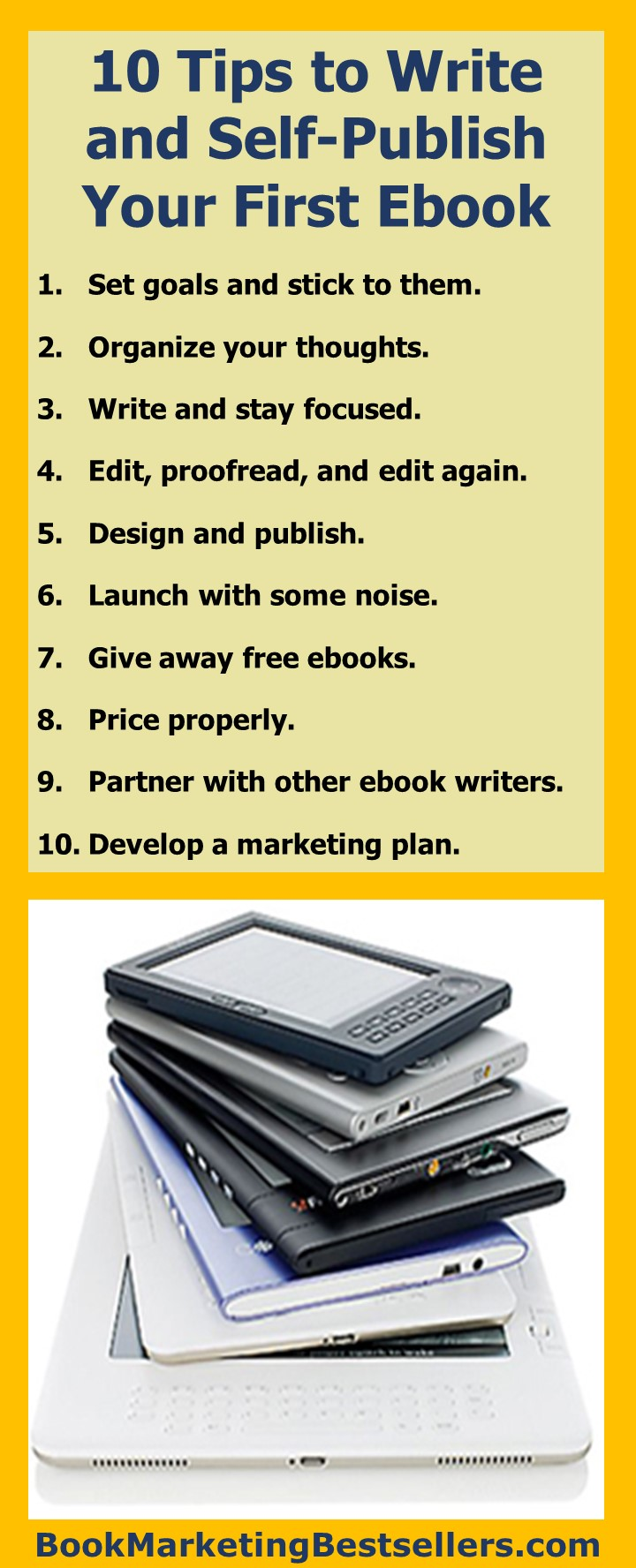 10 tips to write and selfpublish your first ebook  book
