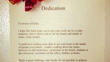 Dedication to 1001 Ways to Market Your Books by John Kremer