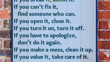 13 Rules of Good Behavior