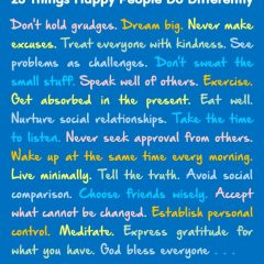 23 Things Happy People Do Differently