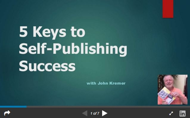 Check out this SlideShare: 5 Keys to Self-Publishing Success from John Kremer #selfpublishingtips