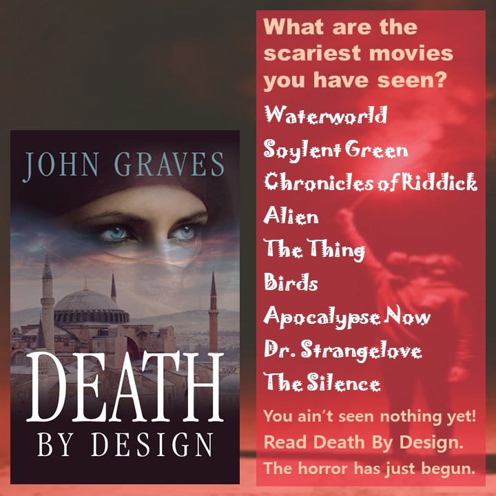 Can you create lists like the ones John Graves creates for his tip-o-graphics to target readers of thrillers? In this graphic, he focuses on the scariest movies you've ever seen.
