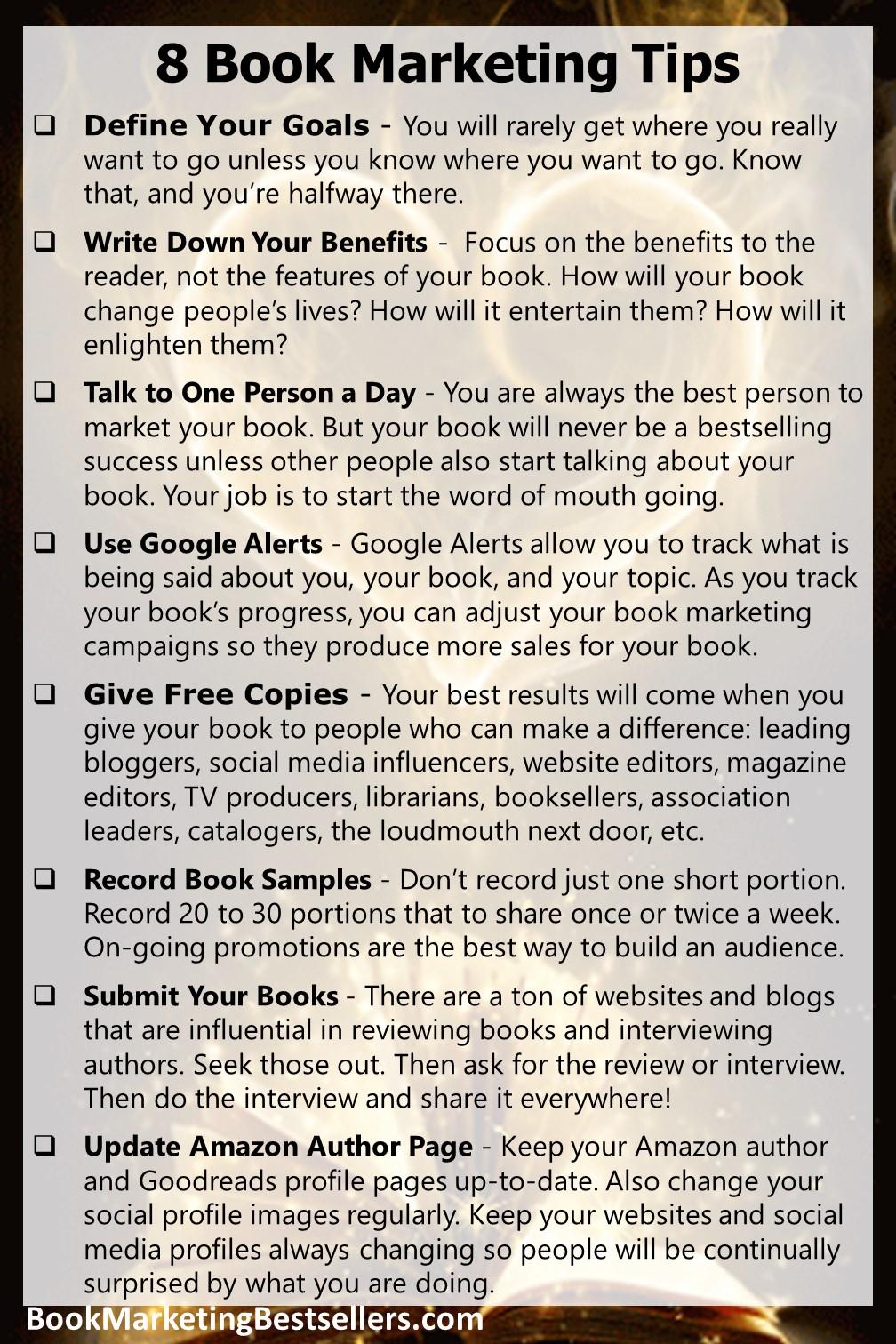 8 Book Marketing Tips