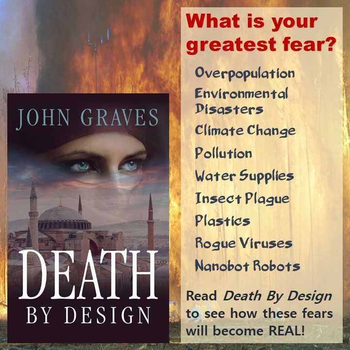 What is your greatest fear? Overpopulation, Environmental Disaster, Climate Change, Pollution, Water Supplies, Insect Plague, Plastics, Rogue Viruses, Nanobot Robots?