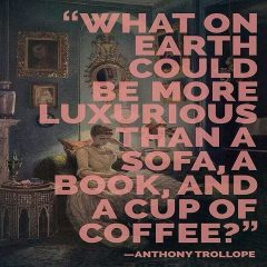 A Book A Sofa and A Cup of Coffee