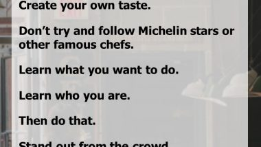 Advice for Aspiring Chefs