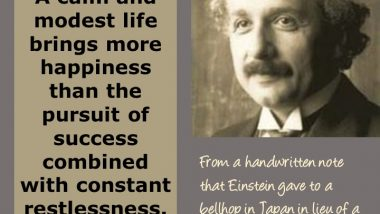 Albert Einstein on Happiness and Success
