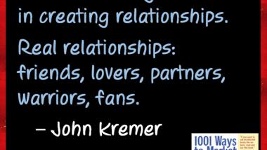 Book Marketing Tip: Creating Relationships