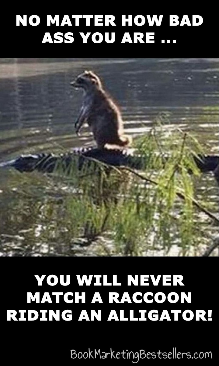 The Bad Ass Raccoon Meme: No matter how bad ass you are, you will never match a raccoon riding an alligator!