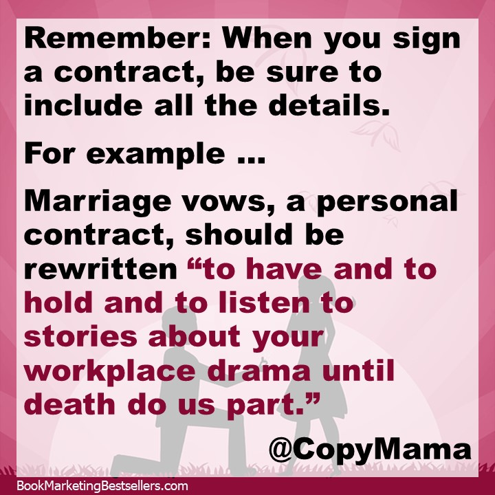 Book Contracts vs. Marriage Vows