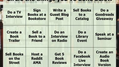 Book Marketing Bingo Card