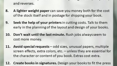 Book Printing Savings Tips