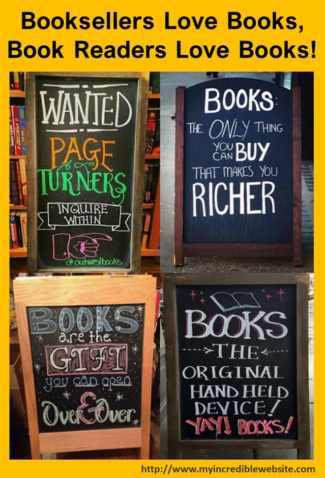 Booksellers Love Books, Readers Love Books!