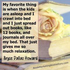 Bryce Dallas Howard on Books