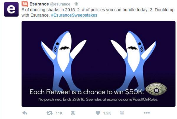 Esurance Twitter Sweepstakes