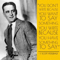 F Scott Fitzgerald on writing