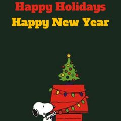 Happy Holidays from Snoopy, John Kremer, and Gail Kremer