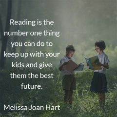 Melissa Joan Hart on reading to your kids