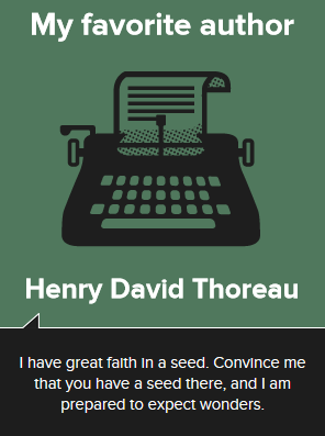 Henry David Thoreau, author of Walden